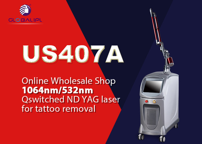 Pigment Removal Q Switched Nd Yag Laser Tattoo Removal Machine 1064nm / 532nm